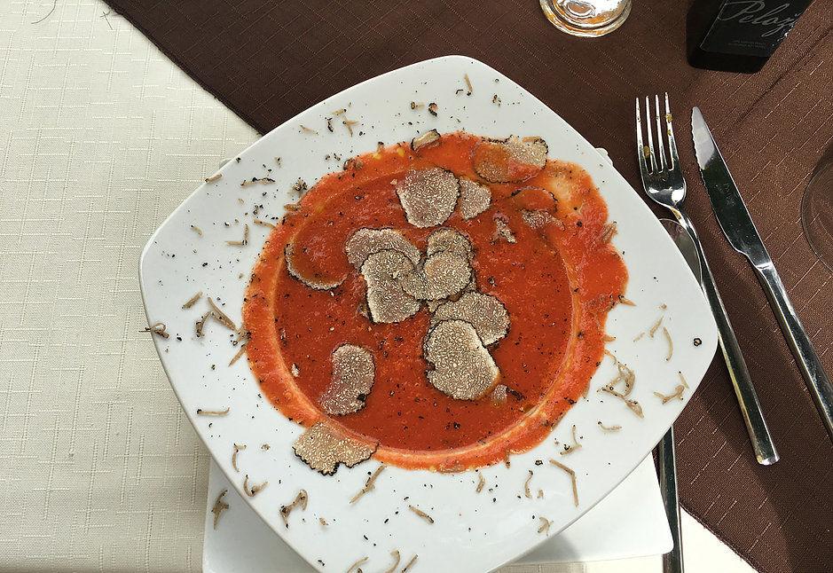 Tomato truffle soup
