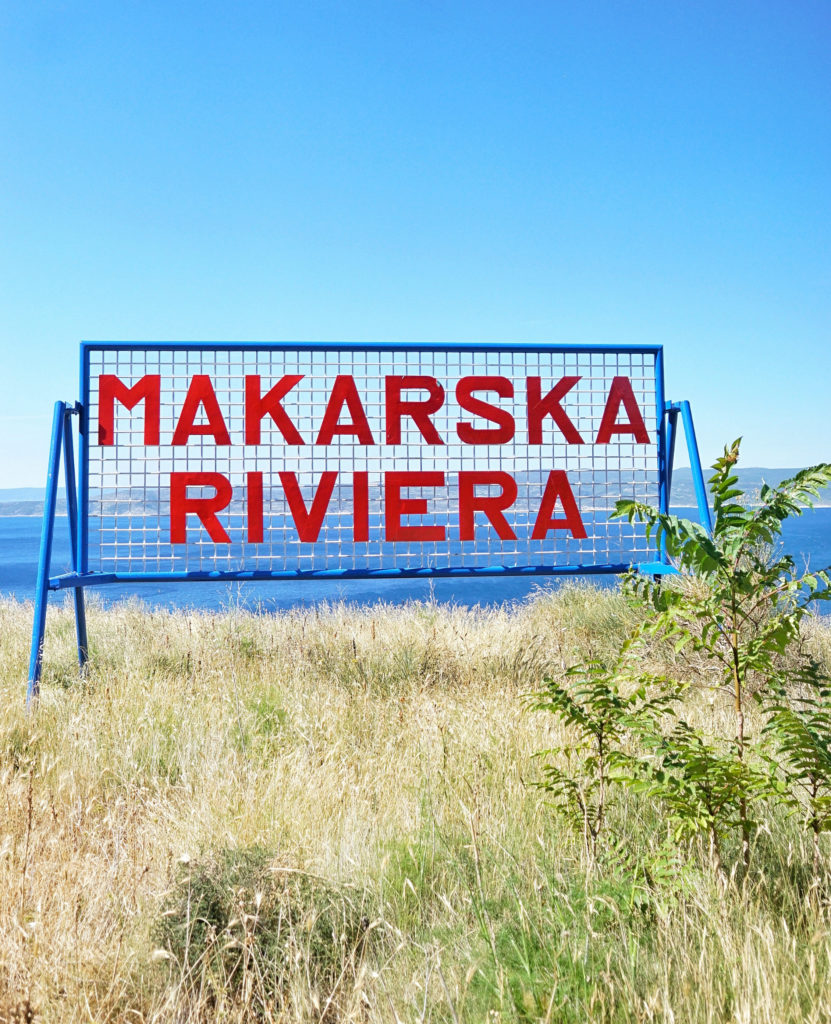 Makarska Riviera sign