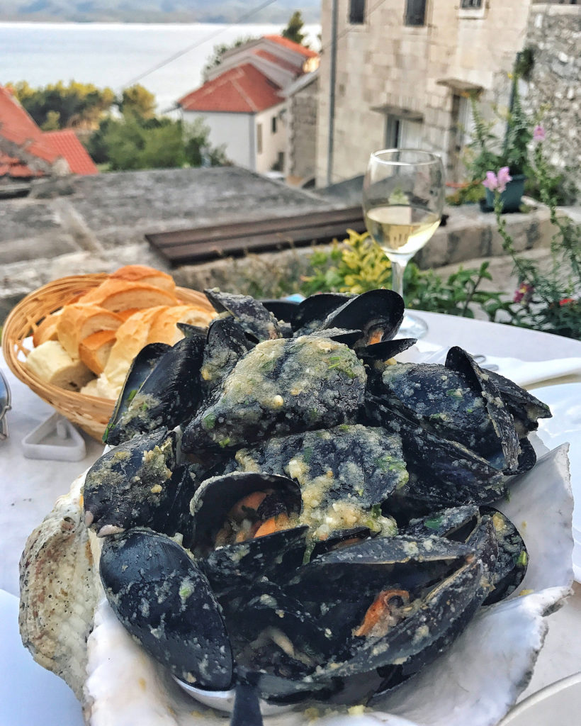 Mussels at Carevi Dvori