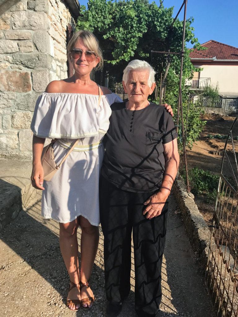 My grandma and me in Obrovac Sinj, Croatia.