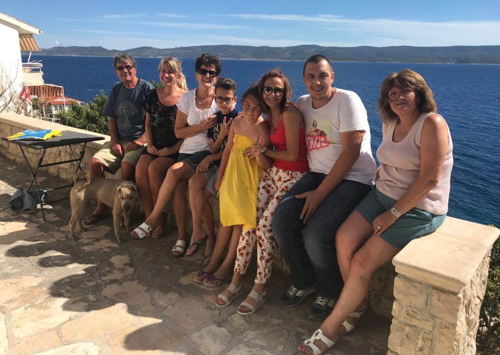 Family time in Mimice, Croatia.