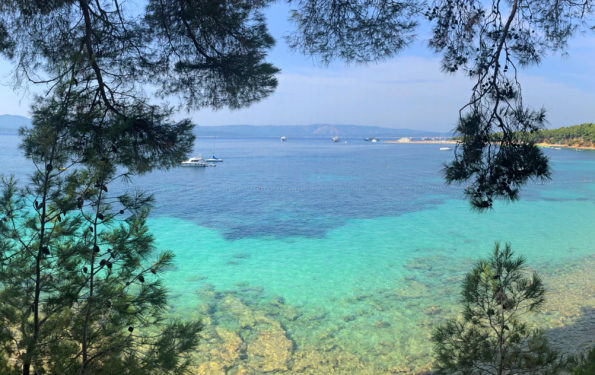 Turquoise gradient waters in Bol, Brač.