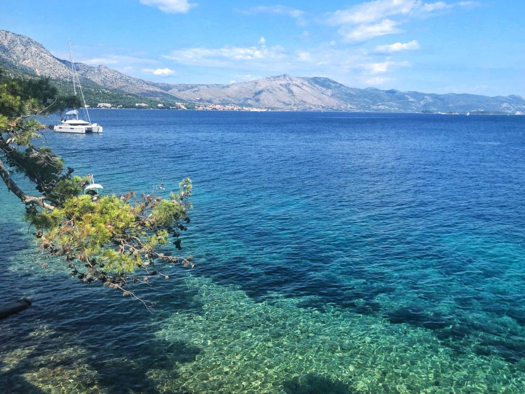 Gradient shades of Blue in Korčula Town.