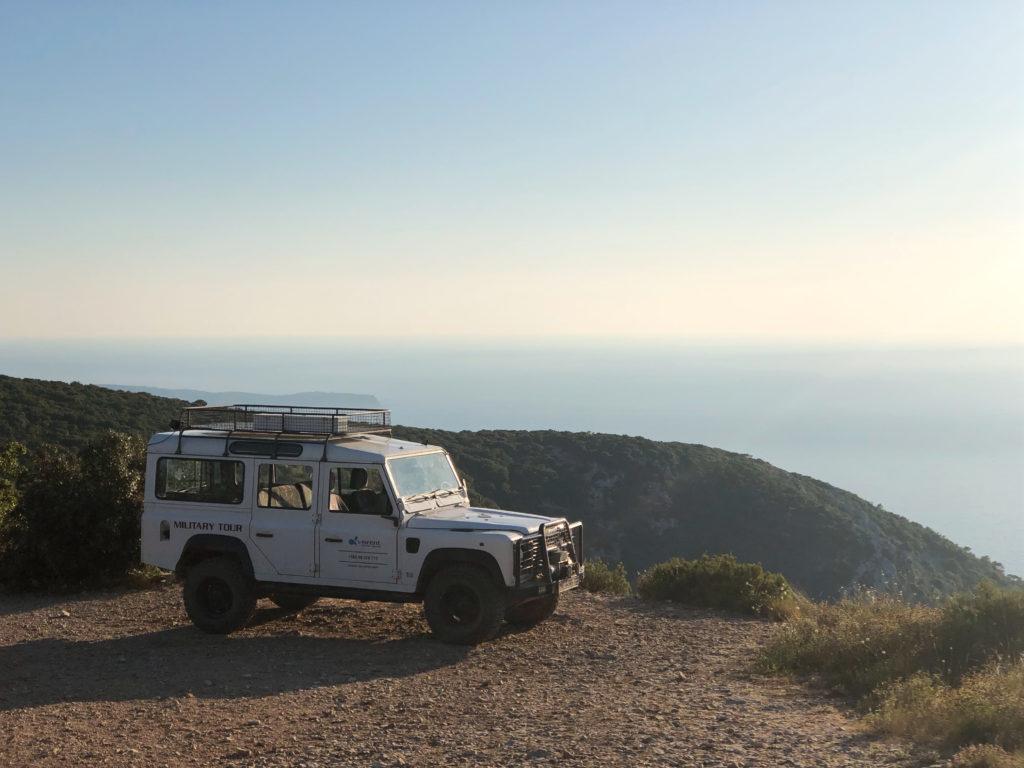 Land Rover Defender on Vis island.