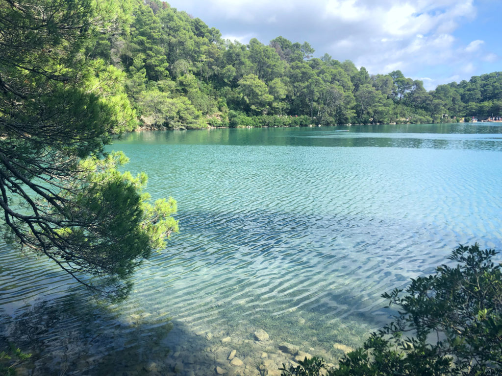 Small lake in Mljet National Park
