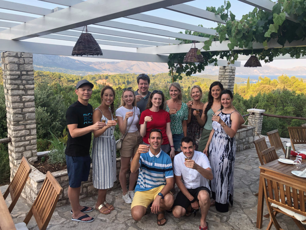 Group photo at Agroturizam Grubinjac.