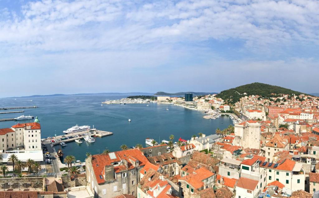 Panoramic views of Split