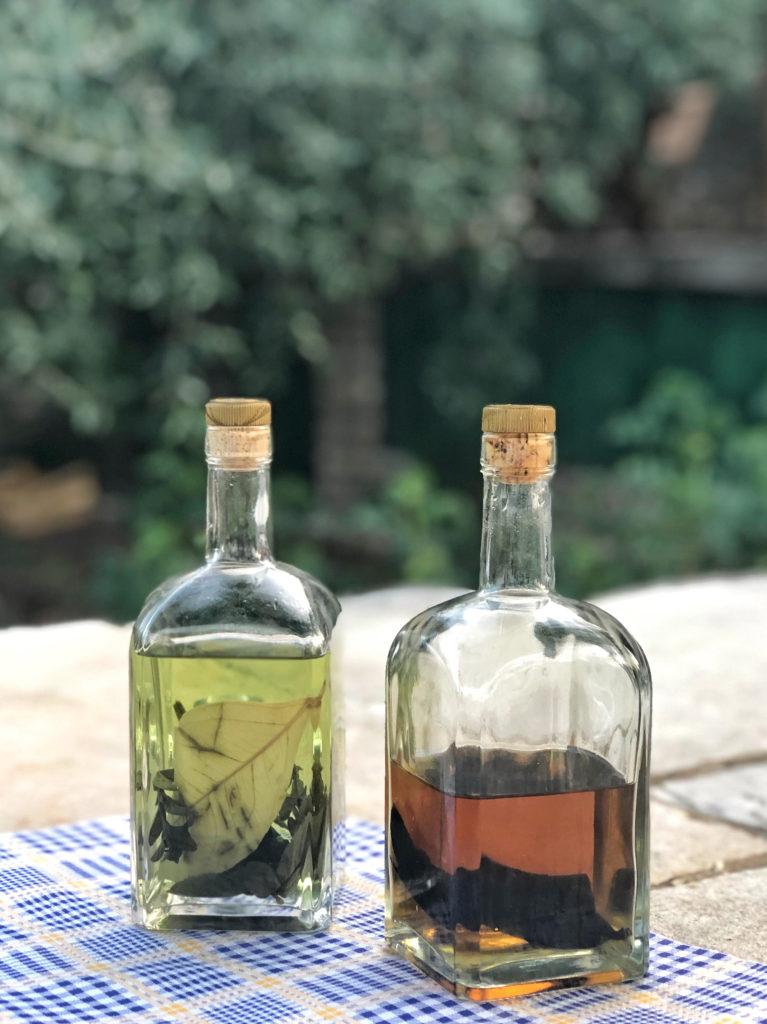 Domestic Croatian liqueurs.