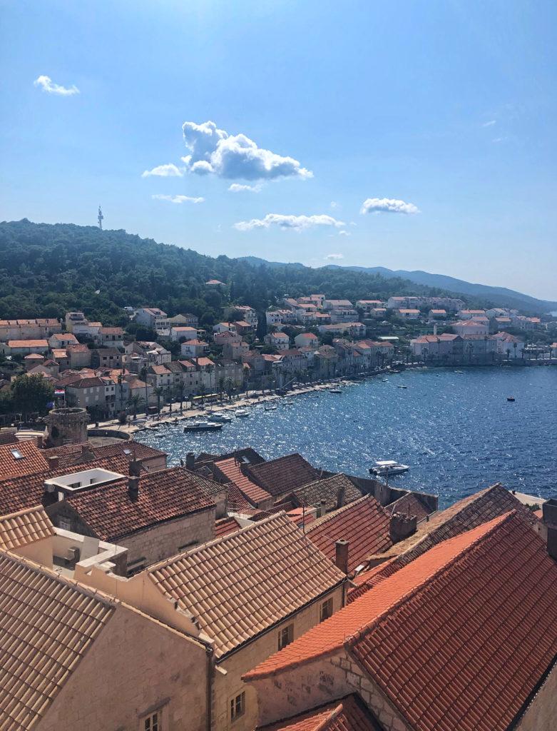 Views from Korčula bell tower